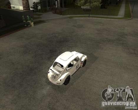 Volkswagen Beetle Herby для GTA San Andreas вид справа