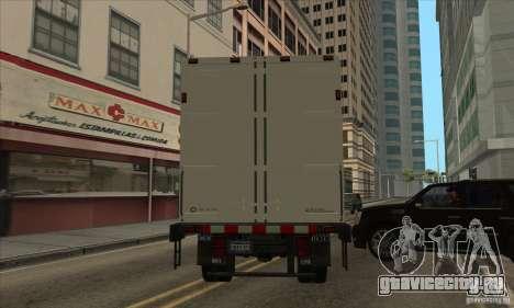 Грузовик с логотипом YouTube для GTA San Andreas вид сзади слева