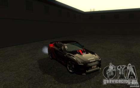 Nissan GTR R35 Spec-V 2010 для GTA San Andreas вид сбоку