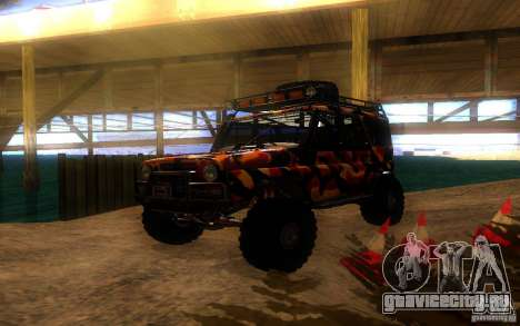 УАЗ 4х4 для GTA San Andreas вид изнутри