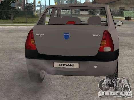 Dacia Logan 1.6 для GTA San Andreas вид сзади