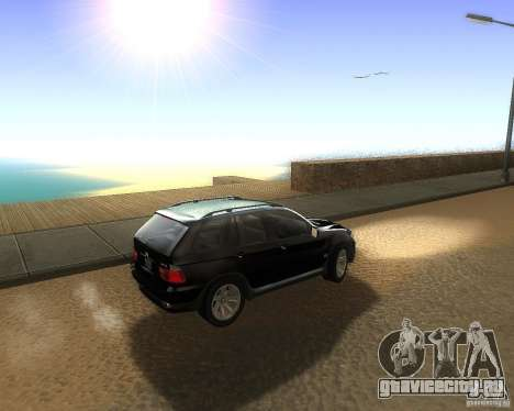 BMW X5 4.8 IS для GTA San Andreas вид слева