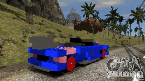 LEGOCAR для GTA 4 вид сзади слева