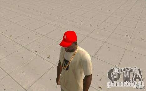 Кепка newyorkyankiys красная для GTA San Andreas