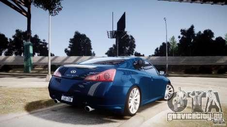 Infiniti G37 Coupe Sport для GTA 4 вид слева