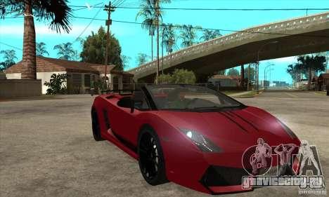 Lamborghini LP570-4 Performante 2011 для GTA San Andreas вид сзади