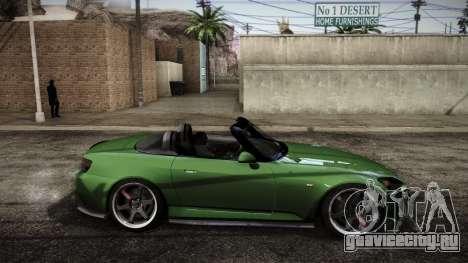 Honda S2000 HellaFlush для GTA San Andreas вид сзади слева