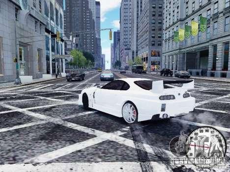 Toyota Supra Drift Setting для GTA 4 вид сзади слева