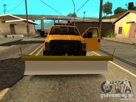 Ford Super Duty F-series для GTA San Andreas вид изнутри