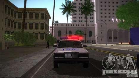 ВАЗ 2107 ППС Арзамаса для GTA San Andreas вид сзади