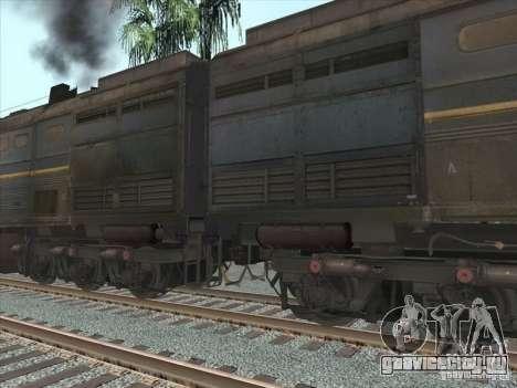 2ТЭ10В-4036 для GTA San Andreas вид изнутри
