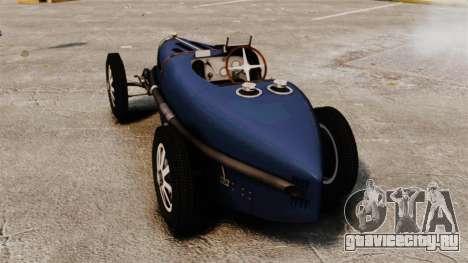 Bugatti Type 51 для GTA 4 вид сзади слева