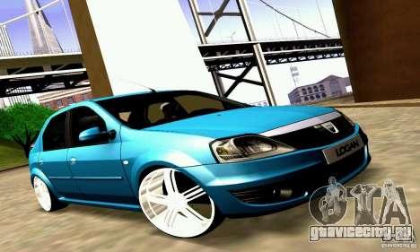Dacia Logan 2008 для GTA San Andreas вид изнутри