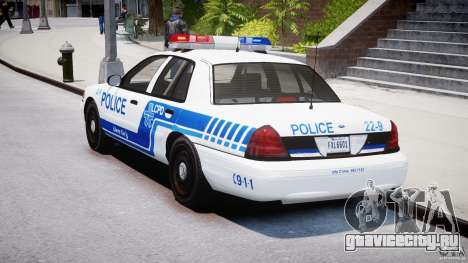 Ford Crown Victoria CVPI-V4.4M [ELS] для GTA 4 вид сзади слева