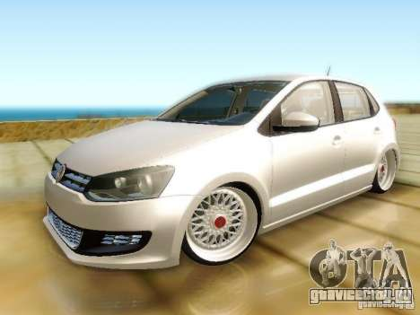 Volkswagen Polo 6R TSI Edit для GTA San Andreas вид сзади слева