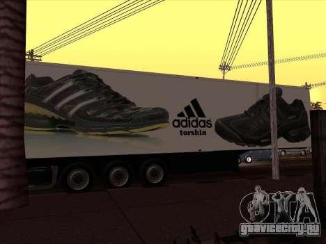 Прицеп Adidas для GTA San Andreas вид сзади слева