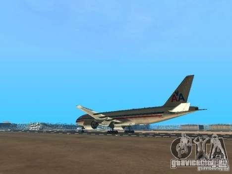 Boeing 777-200 American Airlines для GTA San Andreas вид сзади слева