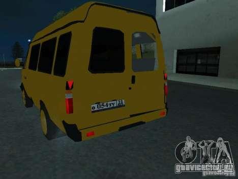 ГАЗель такси для GTA San Andreas вид изнутри