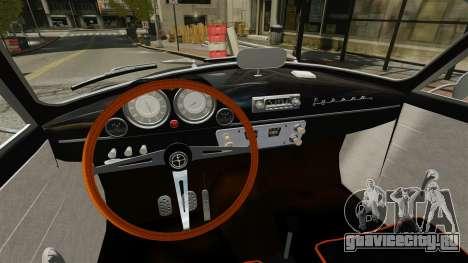 Syrena Coupe V8 для GTA 4 вид сзади