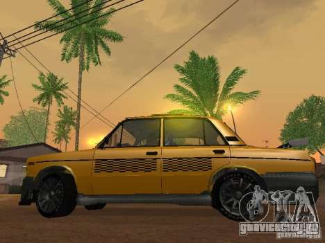 ВАЗ 2106 Такси тюнинг для GTA San Andreas вид справа