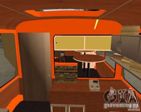 ЛиАЗ-677 (Кафе минутка) для GTA San Andreas вид сзади