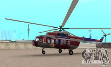 МИ-17 гражданский (Русский) для GTA San Andreas вид сзади слева