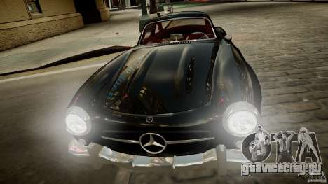Mercedes-Benz 300 SL Gullwing для GTA 4 вид сзади