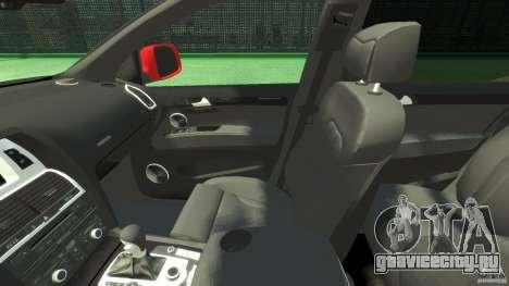 Audi Q7 v12 TDI для GTA 4 вид изнутри