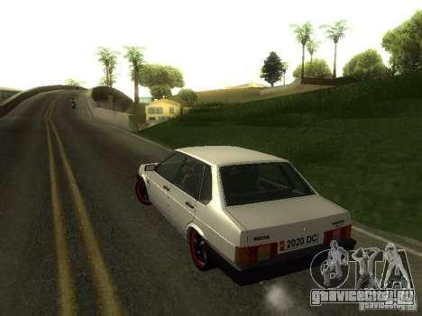 ВАЗ 21099 v.2 для GTA San Andreas вид изнутри