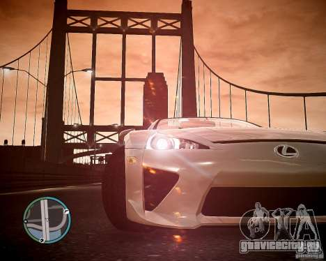 Lexus LF-A Roadster для GTA 4 вид справа