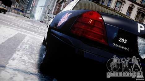 Ford Crown Victoria Massachusetts Police [ELS] для GTA 4 колёса