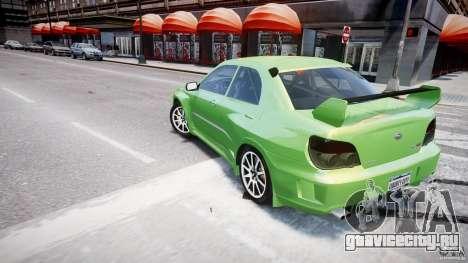 Subaru Impreza STI Wide Body для GTA 4 колёса