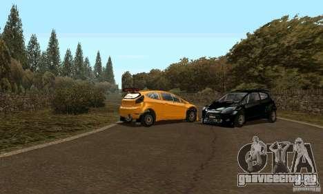 Ford Fiesta Rally для GTA San Andreas вид сзади слева