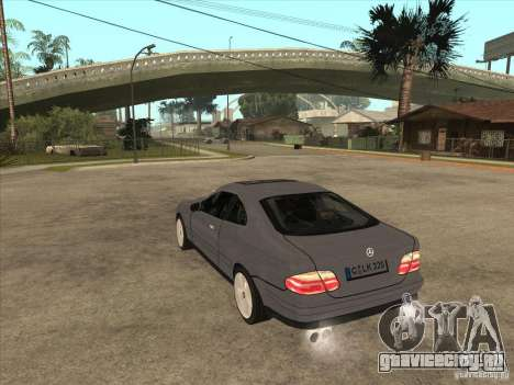 Mercedes-Benz CLK320 Coupe для GTA San Andreas вид сзади слева
