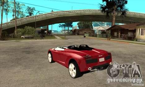 Lamborghini Concept S для GTA San Andreas вид сзади слева