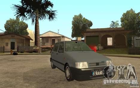 Fiat Uno 70s для GTA San Andreas вид сзади