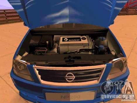 Nissan NP200 для GTA San Andreas вид сбоку