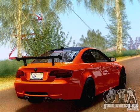 BMW M3 GT-S 2011 для GTA San Andreas вид слева