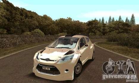 Ford Fiesta Rally для GTA San Andreas вид изнутри