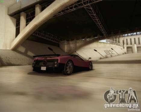 Pagani Zonda F V1.0 для GTA San Andreas вид сверху