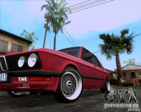 BMW 5-er E28 для GTA San Andreas вид сверху