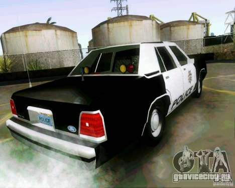 Ford Crown Victoria LTD 1991 LVMPD для GTA San Andreas вид слева