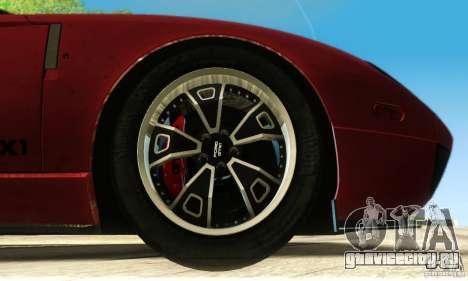 Ford GTX1 Roadster V1.0 для GTA San Andreas вид снизу