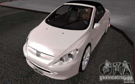 Peugeot 307CC BMS для GTA San Andreas вид сзади