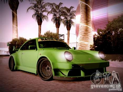 Porsche 911 Turbo RWB Pandora One для GTA San Andreas вид изнутри