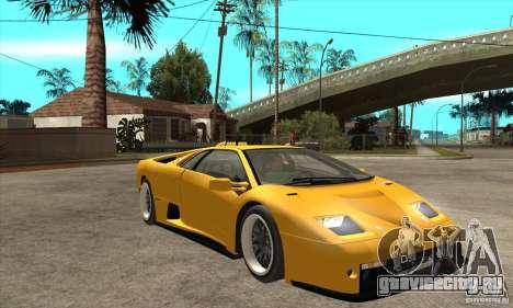 Lamborghini Diablo GT-R 1999 для GTA San Andreas вид сзади