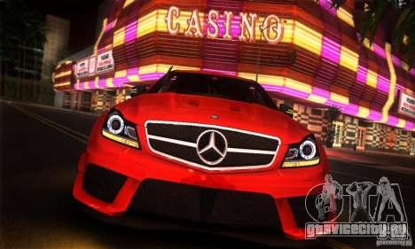 Mercedes Benz C63 AMG для GTA San Andreas вид справа