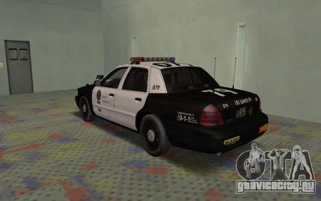 Ford Crown Victoria Police Interceptor LSPD для GTA San Andreas вид справа