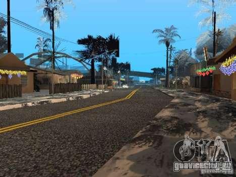 Новый Год на Гроув Стрит для GTA San Andreas седьмой скриншот