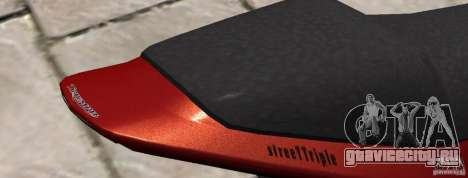 PCJ600 to Triumph StreeTTriple для GTA 4 вид сзади слева